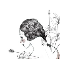Flowers and arrows. A Illustration project by Gisela Navarro - 31-08-2017