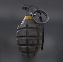 Grenade - AUTODESK 3DS MAX + SUBSTANCE PAINTER + MARMOSET. Um projeto de 3D de Blanca Márquez Gil-Bohórquez         - 09.04.2017