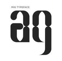 Mig Typeface. A T, and pograph project by Pablo Calzado - 08-09-2017