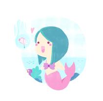 Sea world - Mermaid mythology. Un proyecto de Ilustración de Sara Gummy - 11-09-2017