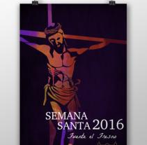 Cartel Semana Santa 2016 Fuente el Fresno. Un proyecto de Ilustración de Melania Peinado Gonzalo         - 01.03.2016