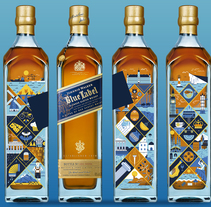 Johnnie Walker Blue Label. A Illustration, Graphic Design, and Vector illustration project by Salmorejo Studio  - 12-09-2017