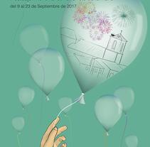 Cartel para las fiestas patronales de Valdenuño Fernández 2017. Un proyecto de Diseño gráfico de Maria Pereda Escudero         - 10.08.2017