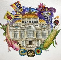 Acuarela México . A Design, Illustration, Architecture, Fine Art, Painting, and Street Art project by Héctor Armando Domínguez Rodríguez - 19-09-2017