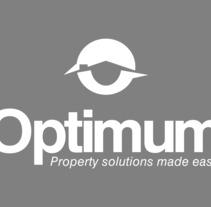 Optium, logotipo para empresa de soluciones inmobiliarias.. Um projeto de Br e ing e Identidade de Claudio Osorio         - 25.09.2017
