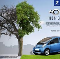 Gráfica Peugeot ION 5. Un proyecto de Publicidad y Dirección de arte de Jorge López         - 16.10.2017