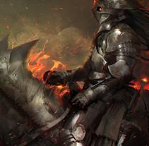 Dark Demon. Un proyecto de Ilustración, Diseño de personajes y Diseño de juegos de Adrián  Rodríguez - 16-10-2017
