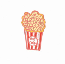 GIF PALOMITAS , . A Design, Illustration, Animation, Br, ing, Identit, Character Design, Fashion, Interactive Design, Marketing, Web Design, Comic, and Video project by Gemma Ramírez         - 17.10.2017