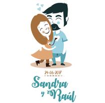 INVITACIÓN DE BODA - Sandra y Raúl - Love is in the air!. A Design, Illustration, Character Design, Graphic Design, and Vector illustration project by Irene Ibáñez Gumiel         - 23.10.2017