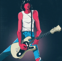 Johnny Ramone. A Illustration project by Antoni Sendra         - 24.10.2017