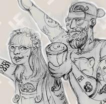 Normalización del fascismo (boceto). Un proyecto de Ilustración y Arte urbano de Aurora Tristán - 26-10-2017