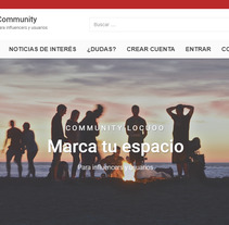 Plataforma Web Community Locuoo. A Web Design project by Maylin Sanabria - 28-10-2017