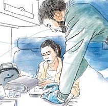 Personas que se mueven - Médicos del Mundo. A Illustration project by Nuria Ayma Comas         - 01.03.2017