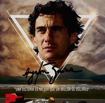 Poster Design Ayrton Senna. A Design project by Ignacio Tenaglia         - 11.02.2017