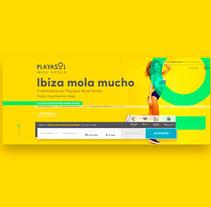 Web Playasol Ibiza Hotels . Un proyecto de UI / UX y Diseño Web de Alex Blanco Asencio - 18-11-2017