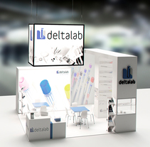 Stand Deltalab. A 3D, Interior Architecture&Interior Design project by Toni Ortin         - 17.01.2017