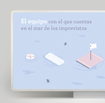 Campaña publicitaria e Ilustraciones corporativas para empresa de seguros. A Design, Illustration, Advertising, Graphic Design, Marketing, and Vector illustration project by LLO_ Lidia Lobato - 03-11-2017