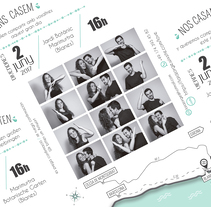 Invitación boda. A Graphic Design, and Packaging project by Marta Vallès         - 28.11.2017