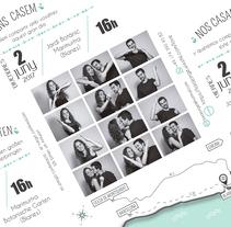 Invitación boda. Um projeto de Design gráfico e Packaging de Marta Vallès         - 28.11.2017
