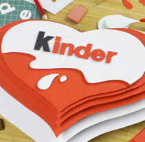 Kinder Instagram. A Advertising, Crafts, Graphic Design, and Paper craft project by Vasty  - 29-11-2017