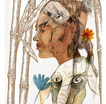 Mi Proyecto del curso: Retrato ilustrado en acuarela. A Illustration project by Xavier Krauel         - 12.02.2018
