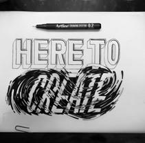 #HereToCreate Adidas Woman - Lettering Mural. Un proyecto de Diseño gráfico, Lettering e Ilustración vectorial de Marina Malmar         - 22.02.2017