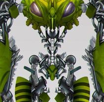 Diseño de personaje - mi versión de waspinator. Un proyecto de Ilustración, Diseño de personajes y Diseño gráfico de Andres Gonzalez         - 01.12.2017