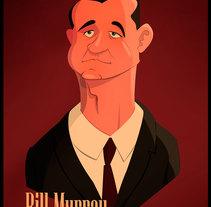 Mr. Bill Murray. A Vector illustration project by Salvador Laserna Pla         - 12.12.2017