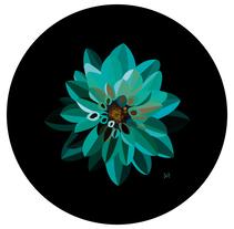 Ilustración 'Blue Dhalia'. A Design, Illustration, Graphic Design, and Vector illustration project by Sandra Martínez Arroyo         - 20.12.2017
