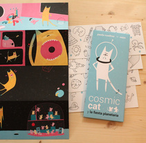 Cosmic Cat y la fiesta planetaria (MTM editores). Um projeto de Ilustração de Paula Cuadros Andres         - 10.10.2016