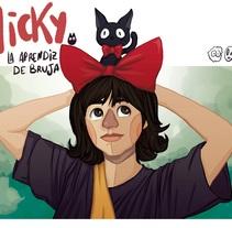 Nicky la pequeña bruja. Un proyecto de Ilustración de Natalia Martín         - 28.12.2017