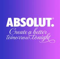 Absolut. Create a better tomorrow, tonight.. A Animation, and Graphic Design project by Txaber Mentxaka         - 05.01.2018