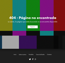 Página - Error 404. Um projeto de UI / UX e Web design de José Luis Soler del Toro         - 05.01.2018