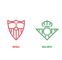 Diseño de escudos del Sevilla y el Real Betis. A Design, Illustration, Graphic Design, and Vector illustration project by Javi Rodríguez          - 06.01.2018