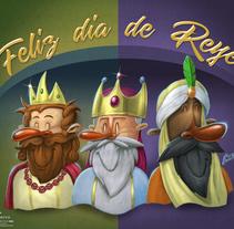 Feliz día de Reyes!. Un proyecto de Ilustración de Martin Mariano Hernandez Tena         - 08.01.2018