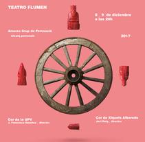 Cartel para espectáculo musical Carmina Burana. A Design project by CREATIAS   diseño y comunicación  - 09-01-2018