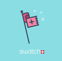 Swatch Winter Catalog Illustrations. A Illustration, Vector illustration&Icon design project by The Woork Co  - 15-01-2018