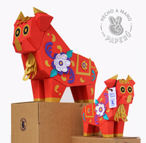 :: Toritos de Pucará PAPERÚ ::. A Design, Art Direction, Character Design, Crafts, Product Design, and Paper craft project by PAPERÚ         - 15.10.2017