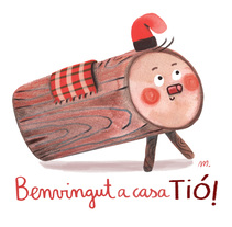 Caga tió. A Illustration, Character Design, Crafts, Fine Art, To, and Design project by aluka         - 02.02.2018