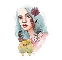 Mi Proyecto del curso: Retrato ilustrado en acuarela. A Illustration project by Paqui Cazalla - 02-02-2018