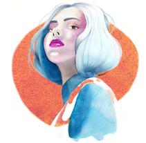 Mi Proyecto del curso: Retrato ilustrado con acuarela. A Illustration project by dianamonrod - 09-02-2018