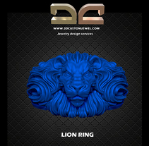 Lion ring. A Jewelr, and Design project by Diego  Aramburu         - 16.02.2018