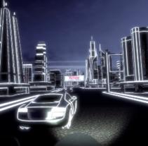 TRON aesthetics rally [PathGraph] [3D 360 VR]. Um projeto de 3D, Animação, Arquitetura, Design de automóveis, Eventos, Design de jogos, História em quadrinhos, Cinema e Vídeo de Carlos Hernández Gironés         - 20.01.2018
