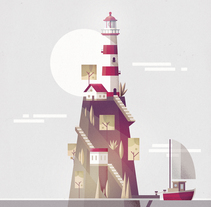 'Faro'. A Illustration, and Vector illustration project by Ricardo Polo López         - 07.03.2018