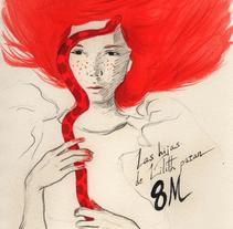 8 M International Women Strike. Las hijas de Lilith paran!. Um projeto de Design, Ilustração, Artes plásticas e Pintura de Helena de la Cruz         - 08.03.2018