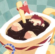 La cafetera, de The New Raemon. Un proyecto de Ilustración de Enrique Molina         - 14.03.2018