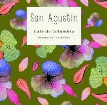 Café San Agustín de Colombia. Está inspirado en las faldas de las campesinas y recolectores de café de Colombia. Su colorido me recuerda el folclor de las montañas Andinas, la fiestas y su aroma.. A Design project by Andrea Acevedo         - 20.03.2018