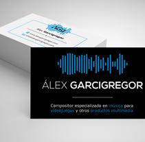 Imagen corporativa para Álex Garcigregor. Um projeto de Design, Direção de arte, Br e ing e Identidade de Cristina Coll Fernández         - 23.10.2017